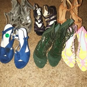 6 lots different brand high heels